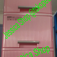 lemari plastik / container plastik axis lion star susun 3 (gojek only)