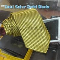 Dasi Panjang Pria Motif Salur Dark Gold - Lebar 3 inch (7,5 - 8cm)