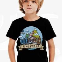 Kaos Baju Tshirt Anak Singapore Hitam