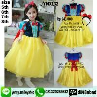 #YN0132 baju snow white anak + jubah dan bando
