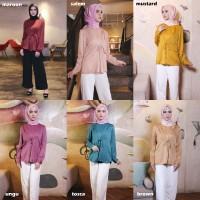 Ilbiyah Blouse Premium Silk Halus Atasan Wanita Muslim Hijab CBL266 - Mustard