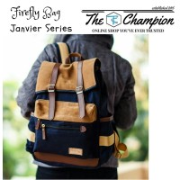 FIREFLY Janvier Navy - Tas Ransel Laptop Kanvas Trendy & Kece, Unisex