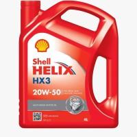 Oli Shell Helix HX 3 Sae 20W-50 4 Liter 100% Asli
