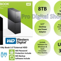 WD Mybook 8TB / External HDD Desktop 3.5 inch / Garansi 3 Tahun