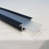 Lis LED List Rel Rumah Lampu LED Strip Alumunium Acrylic Cover HITAM