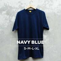 Kaos Polos Biru Navy Soft Cotton Combed 30s, Slimfit, Standar Distro