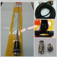 PAKET ANTENA RIG MOBIL/HT VHF 60CM PANJANG ANTENA PLUS KONECTOR HT