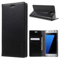Casing Flip Cover Wallet Case Samsung Galaxy S6 - Black