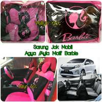 Sarung Jok Mobil Agya Ayla Motif Barbie Pink