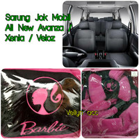 Sarung Jok Mobil All New Avanza Xenia Veloz Motif Barbie Pink