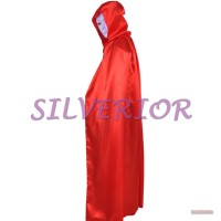 Pakaian Baju Jubah Penyihir Vampire Dracula Drakula Halloween Merah