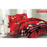 Sprei Single Fata Mickey Mouse Merah 100x200 cm