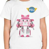 Kaos Baju Tshirt Anak Robocar Poli  bry006