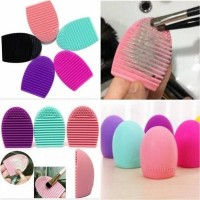 EGG Brush - Alat pencuci pembersih set Kuas Make up brush  Cleanser A2