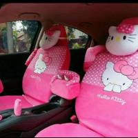 Sarung Jok Mobil AGYA / AYLA Motif HELLO KITY PINK