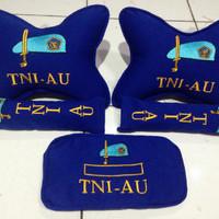 bantal mobil custom TNI AU / carset logo polisi tni / bantal leher