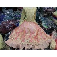 jubah kostum tari india anak. gamis muslim india anak