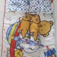 Alas tidur kasur bayi ukuran besar bantal peyang chekkido kado bayi