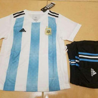 Baju Bola Anak Argentina Home Piala Dunia 2018 Adidas