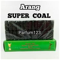 Arang SUPER COAL - Arang Bara - Briket - Charcoal Shisa - areng kotak