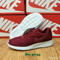 Sepatu Nike Tanjun Red Maroon / Sneakers Pria Wanita Fitness Running