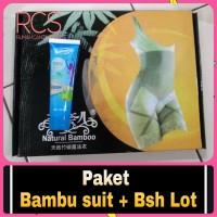 PAKET BAMBOO SLIMMING SUIT +BODY SLIM HERBAL LOTION ~KORSET PELANGSING