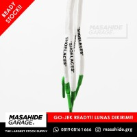 OFF WHITE LACES | OFFWHITE LACES - SHOELACES - WHITE GREEN OVAL 95cm