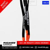 OFF WHITE LACES | OFFWHITE LACES - SHOELACES - BLACK ORANGE OVAL 120cm
