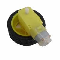 Smart Car Tire/Wheel with Gear Motor for arduino/LPC/AVR/ARM car proje