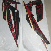 Stiker Bodi & Lis Body & Striping Satria Fu 2013 SE Hitam Merah