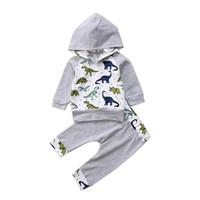 setelan baju bayi laki laki with hoodie motif dino
