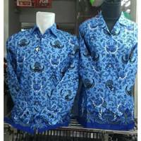 Atasan Baju Seragam Kerja Kantor PNS Batik KORPRI Katun Pria Wanita