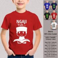Kaos Baju Anak Muslim SN-ASMSMY139 NGAJI YUK 2 Usia 1-12Th