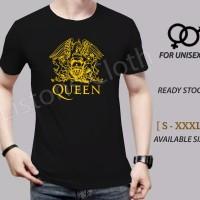 Kaos queen hitam baju distro band rock - XS