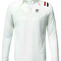 Kaos Polo - Polo Shirt Fila Classic # Lengan Panjang