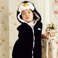 Kostum anak balita penguin hooded vestjacket baju topi animal