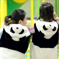 Kostum anak balita Panda hooded vestjacket baju topi animal