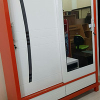 Lemari pakaian IKA 2 pintu jumbo Kayu Mahoni