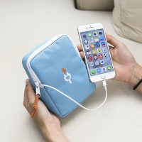 Cable Travel Pouch Dompet Powerbank, Earphone, Charger, dll