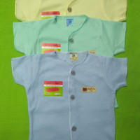 Baju bayi Uscita warna pendek isi 3 pcs