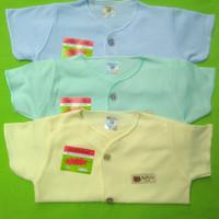 Baju bayi Uscita warna polos pendek isi 3 pcs