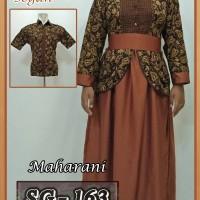 Baju Couple Batik Sarimbit Gamis Batik Pasangan Seragam Batik 02