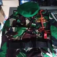 Baju PDL loreng anak Fullset