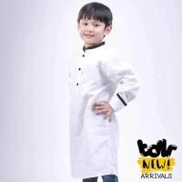Baju Kurta Busana Muslim Anak Laki Laki Cowok Putih Toddler T 1026 T