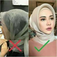 Jilbab Organza Silk Premium (bahan tebal)