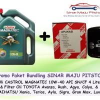 Paket Oli Mobil CASTROL MAGNATEC 10W-40 & Filter Oli TOYOTA AVANZA