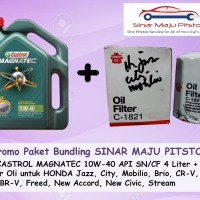 Paket Oli Mobil CASTROL MAGNATEC 10W-40 API SN & Filter HONDA MOBILIO