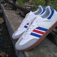Sepatu Adidas Samba Classic List Merah, Biru, Hitam, Putih Gum Murah