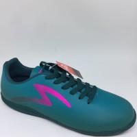 Sepatu futsal specs original Eclipse dark emerald/mineral blue/pink