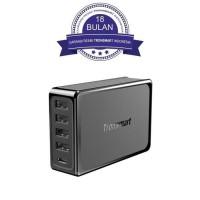 Tronsmart U5P 60W USB PD Desktop Charger With VoltiQ-Hitam - Grosir